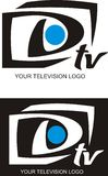 Su insignia de la televisión Imagenes de archivo