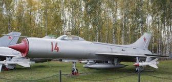 Su-9-Interceptor (1956), den första toppna ljud- militärt jaktplan Royaltyfri Fotografi