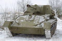 SU-76 - le canon autopropulsé soviétique d'artillerie de la période de la deuxième guerre mondiale Photos stock
