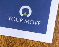 Su logotipo de los agentes de la propiedad inmobiliaria del movimiento fotos de archivo