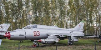 Su-17M 3(1966), den första sovjetiska supersoniska variabla svepvingen Arkivbilder