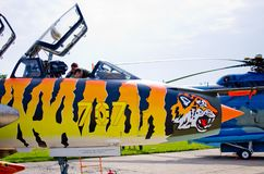 Su-22M4 su Radom Airshow, Polonia fotografia stock