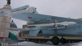 Su-27 med inställda missiler på VDNH arkivfoton