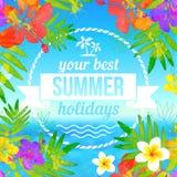 Su mejor etiqueta de las vacaciones de verano en tropical Foto de archivo