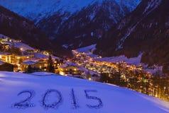 2015 su neve alle montagne - Solden Austria Fotografie Stock