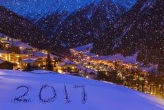 2017 su neve alle montagne - Solden Austria Immagine Stock Libera da Diritti