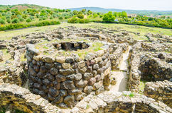 Su Nuraxi di Barumini in Sardinia, Italy. This historical place, dating from the seventeenth century BCE was included in the UNESCO list of World Heritage royalty free stock photos