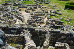 Su Nuraxi di Barumini in Sardinia, Italy. This historical place, dating from the seventeenth century BCE was included in the UNESCO list of World Heritage royalty free stock photo