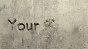 Su palabra de las metas talló en una pared gris stock de ilustración