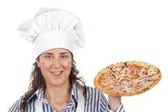 Su pizza italiana sabrosa imagen de archivo libre de regalías