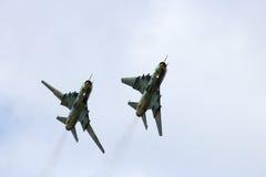 Su-22 polacco Fotografie Stock