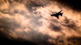 Su-22 - polskt flygvapen royaltyfria bilder