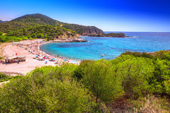 Su Portu beach, Chia resort, Sardinia, Italy Stock Photo