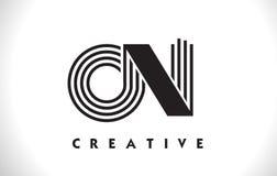 Su progettazione di Logo Letter With Black Lines Linea vettore Illus della lettera Fotografia Stock