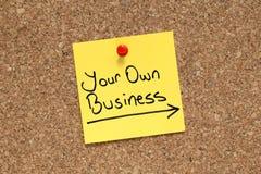 Su propio negocio Imágenes de archivo libres de regalías
