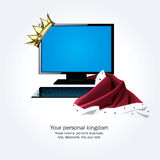 Su propio reino ilustración del vector