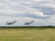 Su-30 que saca en un airshow Fotos de archivo libres de regalías