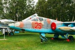 Su-25 - Radziecki opancerzony pojedynczy poddźwiękowy atak Zdjęcie Stock