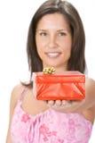 Su rectángulo de regalo rojo Fotos de archivo