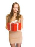 Su regalo. Fotografía de archivo libre de regalías