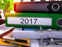 2017 su Ring Binder verde Immagine vaga e tonificata 3d Immagini Stock Libere da Diritti