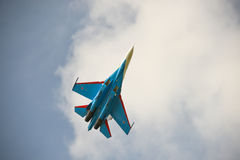 Su-27. Russian fighter Su-27 in the sky Royalty Free Stock Images