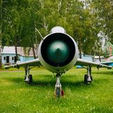 Su-7 Russian Soviet fighter-bomber developed in Stock Photography