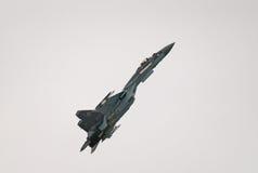 Su35S喷气式歼击机 库存图片