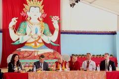 Su santidad el XIV Dalai Lama Tenzin Gyatso Imágenes de archivo libres de regalías