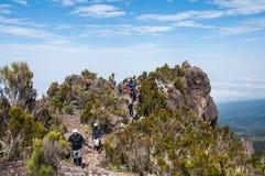 Su Shira Ridge, Kilimanjaro Fotografia Stock Libera da Diritti