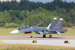 The Su-30 SM fighter Royalty Free Stock Photography