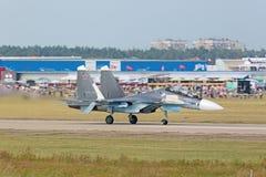 The Su-30 SM fighter stock photo