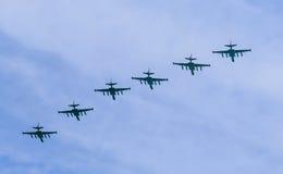 8 Su-25SM Frogfoot dżetowych samolotów Obraz Stock