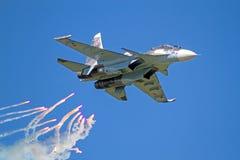 Su-30SM y contramedidas infrarrojas Fotos de archivo
