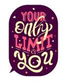 Su solamente límite es usted Frase de motivación stock de ilustración