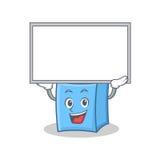Su stile della mascotte del carattere della gomma del bordo illustrazione di stock