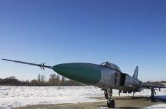 Su-15 supersonische interceptor in de Oekraïne Stock Foto