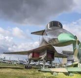 Su-100(T-4)- Strike-reconnaissance aircraft. Max. speed, km/h-32 Royalty Free Stock Photos