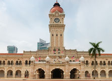 Sułtanu Abdul Samad budynek w Kuala Lumpur Obrazy Royalty Free