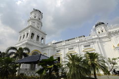 Sułtanu Abu Bakar stanu meczet w Johor Bharu, Malezja zdjęcia royalty free