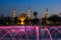 Sułtanu Ahmet meczet na zmierzchu Obrazy Royalty Free