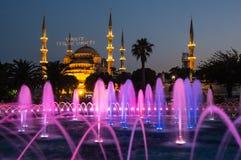 Sułtanu Ahmet meczet na zmierzchu Obraz Royalty Free