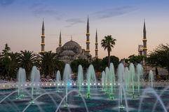 Sułtanu Ahmet meczet na zmierzchu Obraz Stock