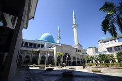 Sułtanu Haji Ahmad Shah meczet a K uia meczet w Gombak, Malezja Obraz Royalty Free