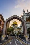 Sułtanu meczetu zmierzch Zdjęcie Royalty Free