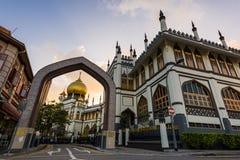Sułtanu meczetu zmierzch Fotografia Stock