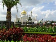 Sułtanu Omar Ali Saifudding meczet, Bandar Seri Begawan, Brunei fotografia royalty free
