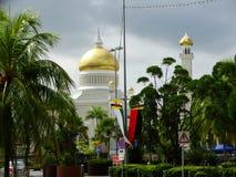 Sułtanu Omar Ali Saifudding meczet, Bandar Seri Begawan, Brunei zdjęcie royalty free