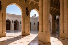 Sułtanu Qaboos Uroczysty meczet w muszkacie, Oman Zdjęcia Royalty Free