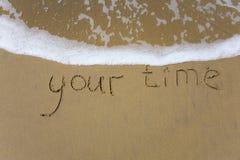 Su tiempo Imágenes de archivo libres de regalías